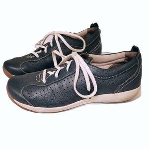 Dansko Navy Leather Hillary Walking Shoe Sneakers